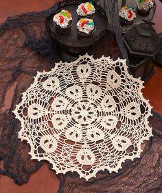 Skulduggery Doily - free crochet pattern by Kathryn A. White for Red Heart.