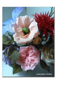 #crepepaper #flowers #fiori di #cartacrespa