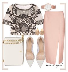 """""""c l a s s y"""" by mzcocogirl ❤ liked on Polyvore featuring Temperley London, C/MEO COLLECTIVE, Gianvito Rossi, Tory Burch, Alexis Bittar and Larsson & Jennings"""