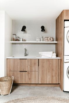 DIY Modern Laundry Room Reveal with Semihandmade Designer Anna Smith of Annabode + Co. reveals her own DIY renovation of her modern laundry room on a budget – using IKEA cabinetry and Semihandmade fronts. Modern Interior Design, Room Interior, Interior Design Living Room, Interior Design Photography, Coastal Interior, Country Interior, Interior Design Magazine, Modern Coastal, Diy Interior
