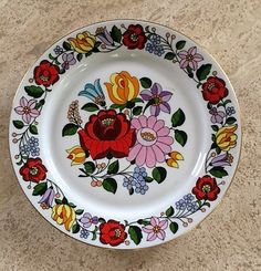 Hungarian Plate Handpainted Plate Plate from by LovedaStuff