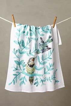 Have. Chirp & Chatter Tea Towel, anthropology.com $18.00