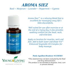 Young Living Essential Oils Aroma Siez. Visit my website for more information and to order: http://www.ylwebsite.com/paola/aroma-siez