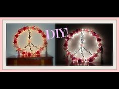 DIY: How To Make A Pinterest Peace Sign Out Of A Hula Hoop! - http://showatchall.com/craft/diy-how-to-make-a-pinterest-peace-sign-out-of-a-hula-hoop/