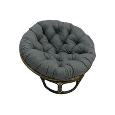 Beachcrest Home Decker Papasan Chair Upholstery Colour: Grey Beachcrest Home Rounding out your decor while providing sensible seating arrangements in small spaces, side chairs offer. Papasan Cushion, Papasan Chair, Chair Cushions, Chair Fabric, Chair Upholstery, Round Cushions, Rattan Chairs, Furniture Chairs, Cushion Fabric