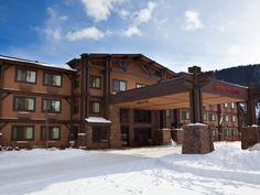 Beautiful Snow Exterior Shot at Hampton Inn Jackson Hole