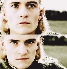 Orlando Bloom as Legolas///// When Legolas learns how to pull off the facial expressions. >:D ((please excuse me, I am very tired and just had lots of feels while listening to Into the West so right now I am a bit crazy.))