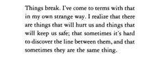 Things break
