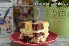 Ciasto łaciate z kremem sernikowym. Mięciutkie, wilgotne i proste w przygotowaniu.Trochę kakaowego ciasta układanego naprzemienne z ciastem kokosowym