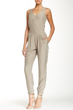 Zip Front Sleeveless Silk Jumpsuit by Emporio Armani on @nordstrom_rack