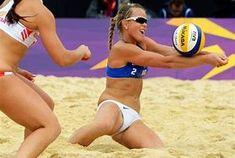 Oops volleyball girls beach