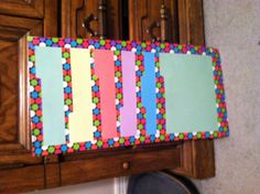 I just finished making this cute pocket chart out of file folders and duct tape with help from miss tiffany's website!! I cant wait to use it in my classroom!! :)  Please check out her blog! Http://specialkidsspecialteachers.blogspot.com  It is the DIY pocket chart! Have fun!!
