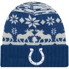 buy popular b94f6 4b7b0 Indianapolis Colts New Era Mooser Cuffed Knit Hat - Royal
