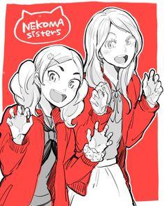 Akane Yamamoto and Alisa Haiba--- EHH NEKOMA SISTER SQUAD