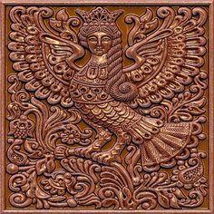 Птица Сирин - Скульптура и лепка - Лепные панно и барельефы