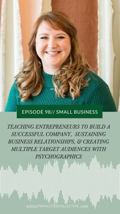 Teaching Entrepreneurs To Build A Successful Company, Sustaining Business Relationships, & Creating Multiple Target Audiences With Psychographics I interview Ashley Ebert all about strategy, including all about her successful business of a decade, whether or not to scale, managing 50 employees, founding a business with her dad & more! Abundance Group Habits Of Successful People, Successful Business, Creative Business, Target Audience, Self Improvement, Abundance, Personal Development, Entrepreneur, Relationships