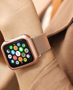 Milanese Stainless Steel Watch Strap for Apple Watch Apple Watch Men, Apple Watch Hacks, Rose Gold Apple Watch, Apple Watch 42mm, Apple Watch Series 3, Apple Watch Necklace, Apple Watch Wristbands, Iphone Watch, Apple Watch Wallpaper