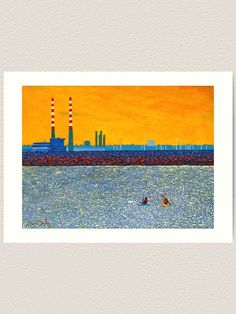 'Poolbeg, Kayakers (Dublin, Ireland)' Art Print by eolai Thing 1, Office Art, Dublin Ireland, Resin Art, Large Prints, Software, Art Print, Technology, Explore