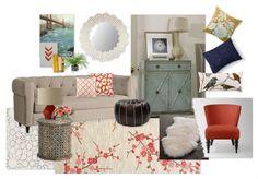 West Elm Living Room Inspiration  {vist Olioboard to vote for me}