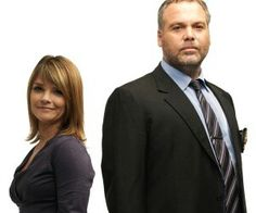 Katherine Ernest and Vincent D'onofrio as Detectives Goren and Eames