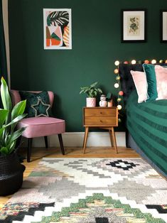 Filling a home (or a room or two) with dark paint colors isn't easy, but the s. Filling a home (or a room or two) with dark paint colors isn't easy, but the striking, moody final look may make the risk worth it—and with these Dark Paint Colors, Bedroom Paint Colors, Bedroom Color Schemes, Bedroom Green, Purple Teal Bedroom, Forest Green Bedrooms, Emerald Green Bedrooms, Emerald Bedroom, Jewel Tone Bedroom