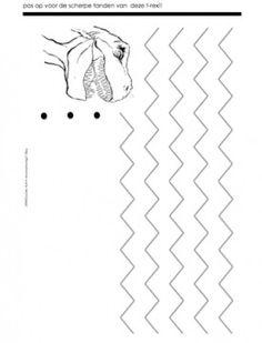 Werkblad motoriek: dino