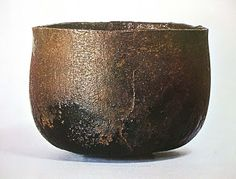 Robert Yellins Japanese Pottery Blog: Honami Koetsu Black Raku Chawan--Shigure
