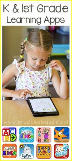 Great list of Kindergarten and 1st Grade Learning Apps