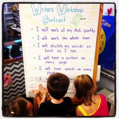 Setting Up Writer's Workshop, writer's workshop contract, first grade, 1st grade, writing