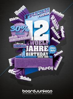 boardjunkies – 3D Illustration for 12th anniversary by Kai Bartels, via Behance