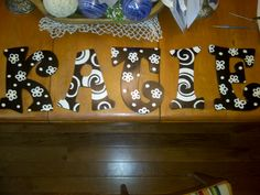 Fun, hand-painted letters to add to any decor Painted Letters, Wood Letters, Hand Painted, Letters For Kids, Kids Room, Crafting, Rooms, Decorations, Lettering