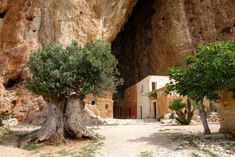 In the province of Trapani, Sicily, there's a portal through time about eighty meters high and seventy meters deep. Nestled inside the natural opening of rocky mountains, lies a tiny village, consisting of quaint earth-colored houses, a chapel, stables, workshops and one cobbled main street.