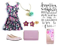 """Flower Power"" by bookspeak ❤ liked on Polyvore featuring HUGO, Kate Spade and Casetify"