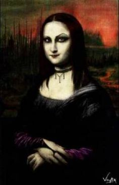 Mona Lisa's evil goth twin Moana Beasta....  Funny, she's not in the Louvre.
