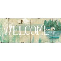 Daphne Brissonnet Stretched Canvas Art - Waterside Lodge III - Large 24 x 48 inch Wall Art Decor Size. Pallet Crafts, Lodge Decor, Wall Art Decor, Canvas Art, Stretched Canvas, Landscape, Medium, Barn, Crafting