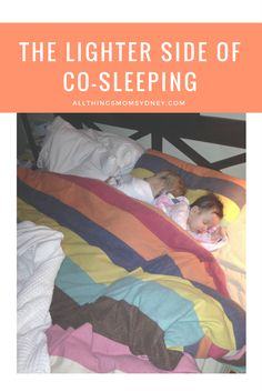Co-sleeping.  It's not really, is it. It's more like co-waking all night long.   Here is a humorous post on sharing a bed with your kids.