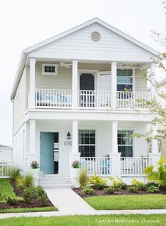 Beach house with double stacked porches beach house plans, beach house