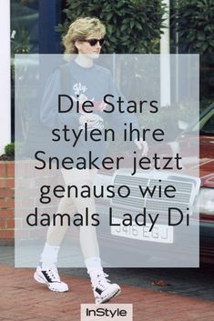 Lady Di setzte mit ihrem Sneaker-Styling in den 90s einen riesigen Trend, den wir – und Bella Hadid & Co. – auch heute wieder tragen. Du auch? #instyle #instylegermany #sneaker #ladydi #trend #bellahadid #90strend Bella Hadid, Cooler Look, Models, Sneakers, Fashion, Tennis Socks, King Of Hearts, Sporty Look, New Fashion Trends