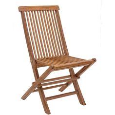 Zuo Modern Regatta Folding Chair Natural Teak Wood (Set Of 2) 703553