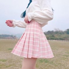 Harajuku Women Skirt Preppy Pleat Skirts Japanese Mini Cute School Uniforms Saia Faldas Ladies Jupe Kawaii Skirt Size S Color Blue Plaid Pleated Mini Skirt, Plaid Mini Skirt, Plaid Skirts, Mini Skirts, Kawaii Fashion, Cute Fashion, Fashion Outfits, Pastel Fashion, Steampunk Fashion