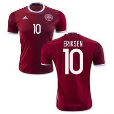 Denmark Jerseys 2015/16 Red Soccer Shirt #10 Eriksen