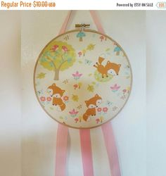 Sale Adorable baby fox hoop bow holder by KiksNBoo on Etsy