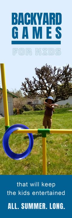 Fun Backyard Games For Kids And Outdoor Games That ROCK! Time for awesome outdoor games to keep the kids happy and healthy. Or atleast -