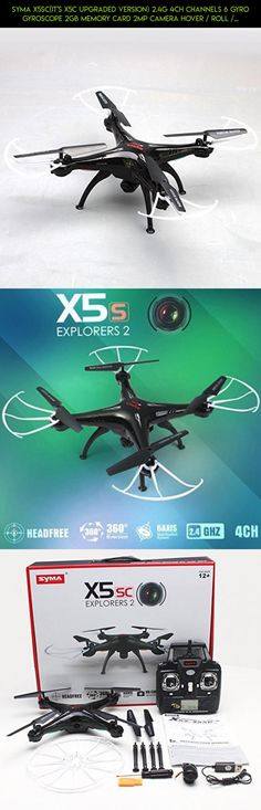 Syma X5SC(it's X5C Upgraded Version) 2.4G 4CH Channels 6 Gyro Gyroscope 2GB Memory Card 2MP Camera Hover / Roll / 3D Flight Headless Mode RC Quadcopter build in 0820 Motor Wind Resistance More Batter than X5C RTF for Children Ages 14+ Black #racing #camera #fpv #parts #shopping #tech #syma #drone #gadgets #products #kit #technology #gear #plans
