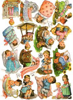 Retro Images, Vintage Images, Vintage Cards, Vintage Postcards, Christmas Decals, Love Is Comic, Printable Pictures, Die Cut, Vintage Paper Dolls