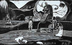 Paul Gauguin (French, 1848-1903). Maruru (Offering to Gods), 1894. The University of Michigan Museum of Art, Michigan. Museum Purchase, 1949. http://www.umma.umich.edu