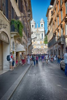 Going to The Spanish Steps, Rome