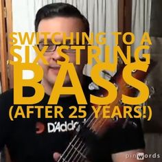 Find out how to confidently switch to a six string bass guitar even after playing a four string for decades. Bass Guitar Rocks talks to Jason Raso who decides to make the switch after 2.5 decades! http://www.bassguitarrocks.com/switching-six-string-bass