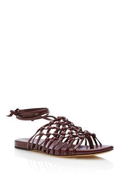 b7c0de2c1fa Knotted Nappa Ankle Wrap Sandal by Alumnae