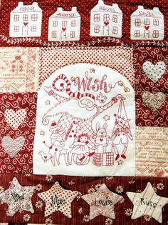 """red brolly """"The Wish Quilt"""" #quilt #patchwork"""